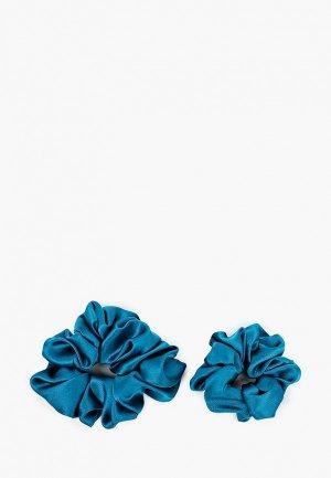 Комплект Silk me Naive. Цвет: синий