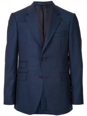 Пиджак прямого кроя Gieves & Hawkes. Цвет: синий