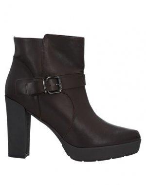 Полусапоги и высокие ботинки JEANNOT. Цвет: темно-коричневый