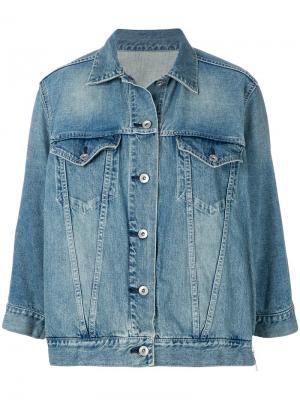 Джинсовая куртка мешковатого кроя Sacai. Цвет: синий