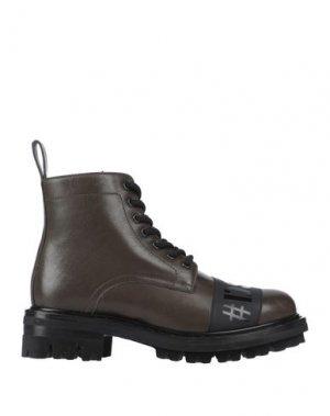 Полусапоги и высокие ботинки DSQUARED2. Цвет: зеленый-милитари