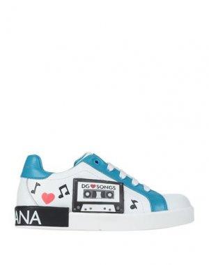Кеды и кроссовки DOLCE & GABBANA. Цвет: лазурный