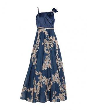 Длинное платье MIKAEL. Цвет: темно-синий