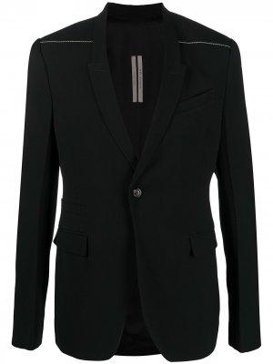 Пиджак с узкими лацканами Rick Owens. Цвет: черный