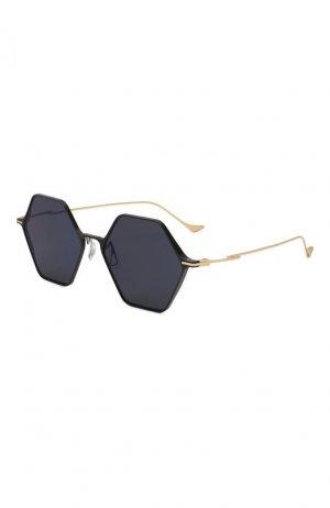 Солнцезащитные очки Yohji Yamamoto. Цвет: синий