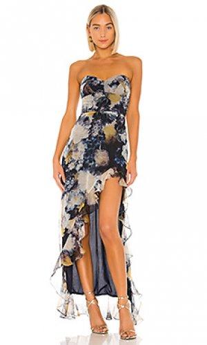 Вечернее платье eden Amanda Uprichard. Цвет: синий