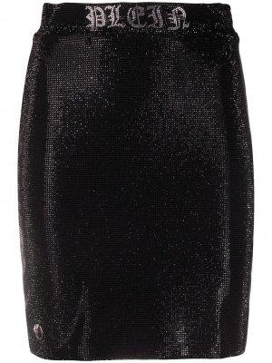 Юбка мини Gothic Plein Philipp. Цвет: черный