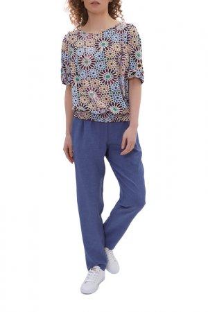 Комплект: блузка, брюки Argent. Цвет: мультиколор