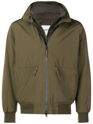 Куртка-бомбер Aspesi. Цвет: зеленый