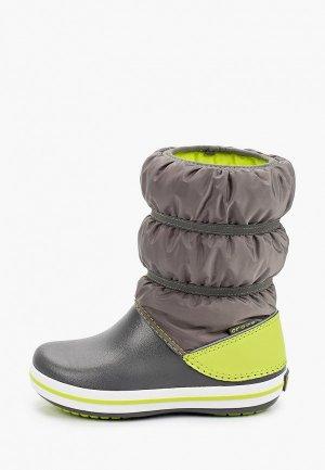 Дутики Crocs. Цвет: серый