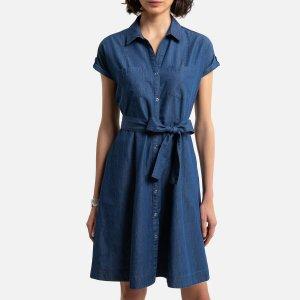 Платье-миди LaRedoute. Цвет: синий