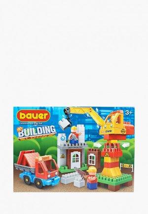 Конструктор Bauer Бауер Стройка набор строительная площадка с краном и грузовиком. Цвет: разноцветный