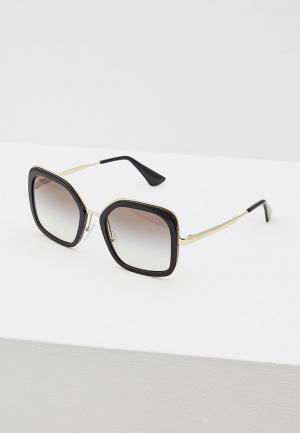Очки солнцезащитные Prada PR 57US 1AB0A7. Цвет: черный