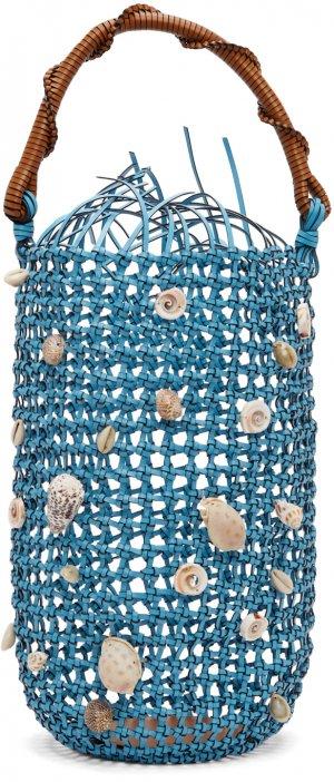 Blue Mesh Bolso Bucket Bag Loewe. Цвет: 5710 soft blue
