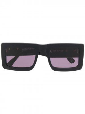Солнцезащитные очки в прямоугольной оправе с логотипом Marcelo Burlon County of Milan. Цвет: черный