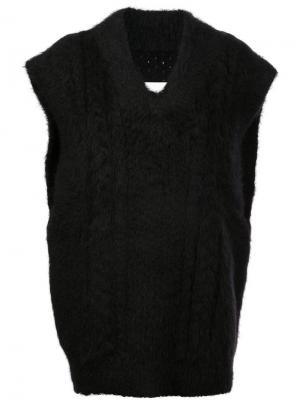 Свитер-жилет в стиле оверсайз Maison Margiela. Цвет: черный