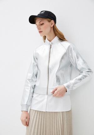 Куртка Karl Lagerfeld. Цвет: серебряный