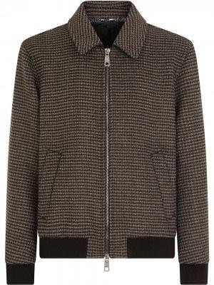 Пиджак в ломаную клетку Dolce & Gabbana. Цвет: коричневый