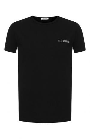 Комплект из двух хлопковых футболок Dirk Bikkembergs. Цвет: чёрный