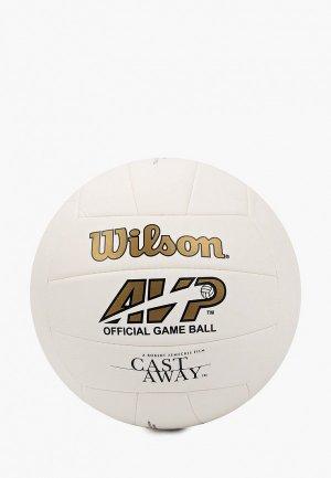 Мяч волейбольный Wilson CASTAWAY. Цвет: белый