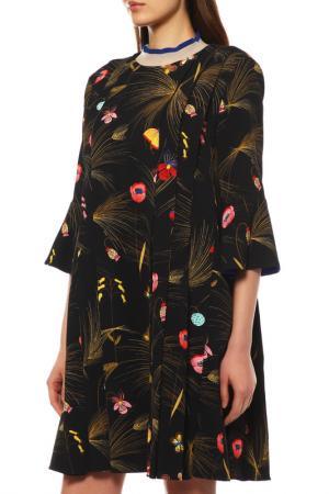 Платье Fendi. Цвет: черный, красный, желтый
