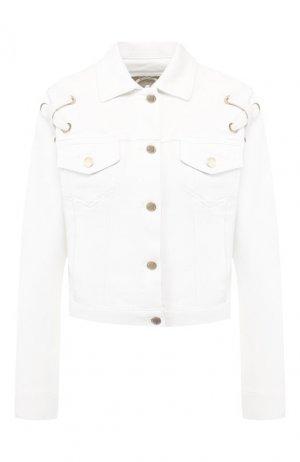 Джинсовая куртка MICHAEL Kors. Цвет: белый