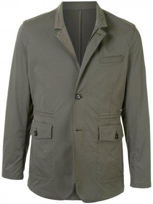 Однобортный пиджак Kent & Curwen. Цвет: зеленый