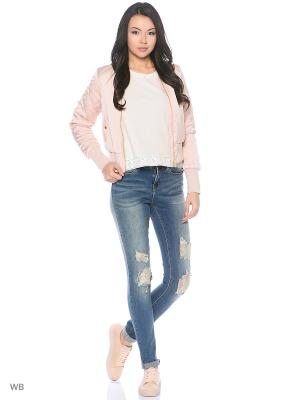 Бомбер Vero moda. Цвет: бледно-розовый