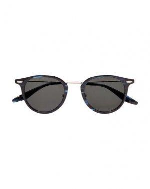 Солнечные очки BARTON PERREIRA. Цвет: темно-синий