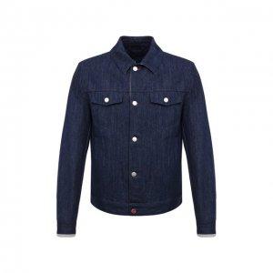 Джинсовая куртка Kiton. Цвет: синий