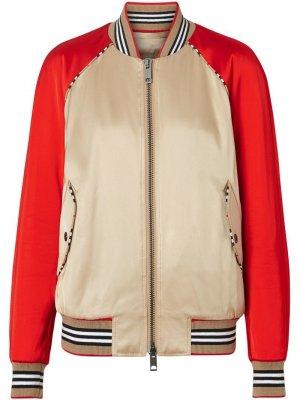Куртка-бомбер с отделкой Icon Stripe Burberry