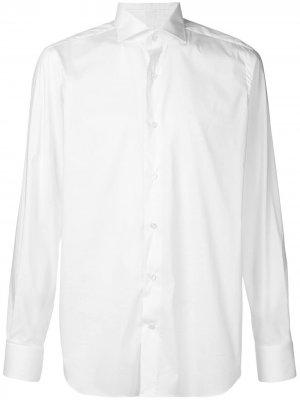 Строгая рубашка в стиле смокинга Alessandro Gherardi. Цвет: белый