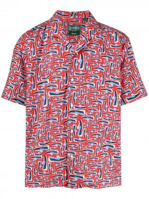 Рубашка с принтом Dockside из коллаборации Sebago Gitman Vintage. Цвет: красный