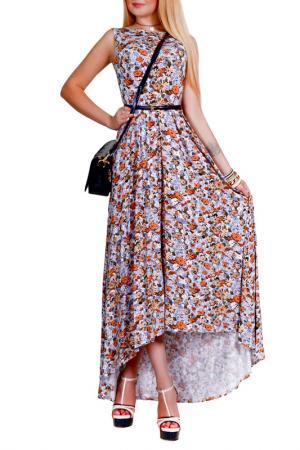 Платье Patricia B.. Цвет: молочный, оранжевый, серый