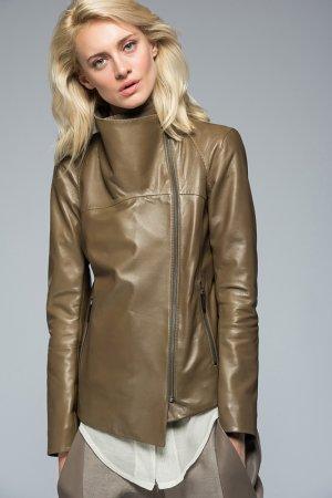 Кожаная куртка VESPUCCI BY VSP. Цвет: коричневый
