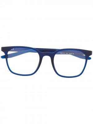 Солнцезащитные очки в квадратной оправе Nike. Цвет: синий