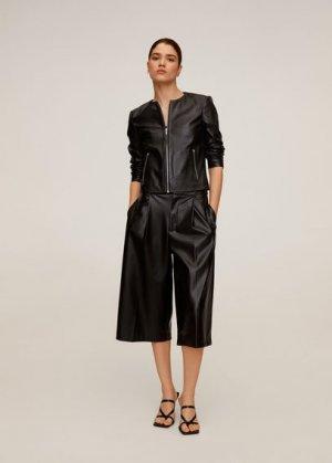 Кожаная байкерская куртка - Felipar Mango. Цвет: черный