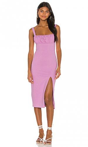 Платье миди molly Privacy Please. Цвет: сиреневый