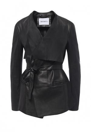 Куртка кожаная Max&Co Max&Co MA111EWOML52. Цвет: черный