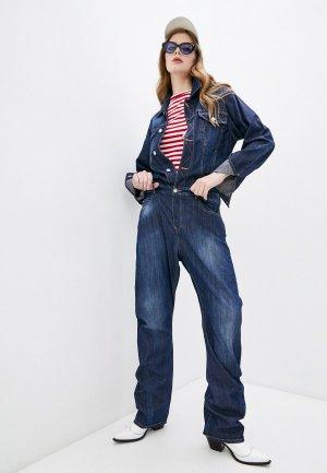 Комбинезон джинсовый Dsquared2. Цвет: синий