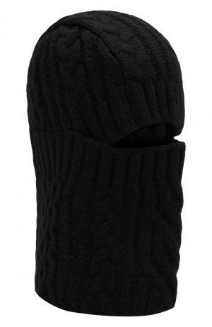 Шерстяная шапка-балаклава Sacai. Цвет: черный