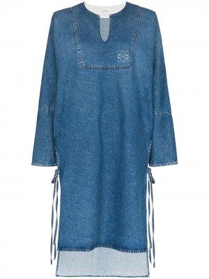 Джинсовое платье-туника Loewe. Цвет: синий