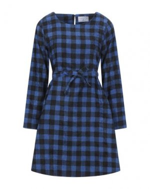Короткое платье COMPAÑIA FANTASTICA. Цвет: синий