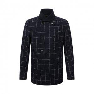 Пиджак из шерсти и кашемира Giorgio Armani. Цвет: синий