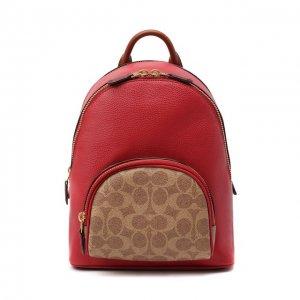 Рюкзак Carrie small Coach. Цвет: красный