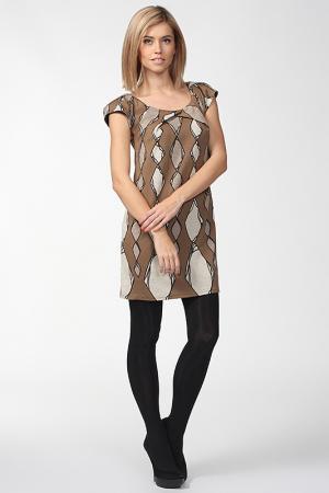Платье Fifilles. Цвет: бежевый