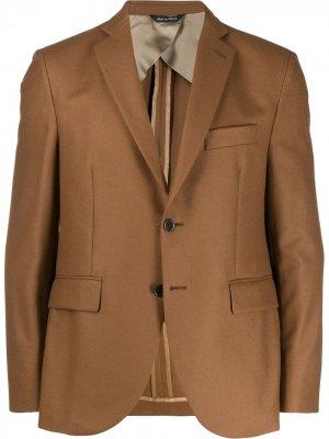 Пиджак узкого кроя LC23. Цвет: коричневый