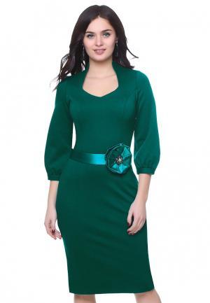 Платье Grey Cat EIVORY. Цвет: зеленый