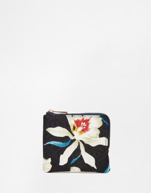Бумажник с круговой молнией Orchid Mi-Pac. Цвет: синий