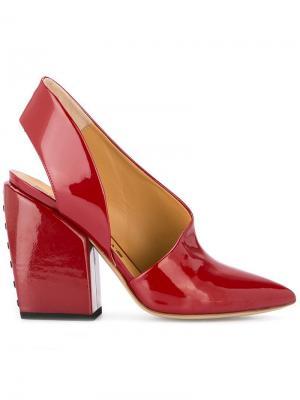Туфли-лодочки с ремешком на щиколотке Petar Petrov. Цвет: красный